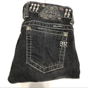 Miss Me Black Skinny Jeans Size 27 EUC